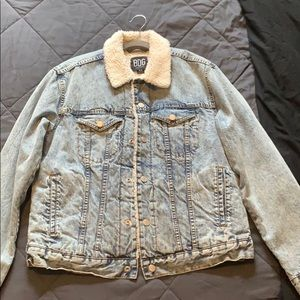 BDG Urban Outfitters Denim Jacket with Faux Fuzz